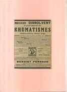 FRANCE 75 . MEXICAN DISSOLVANT . PUB  DES ANNEES 1920 . DECOUPEE ET COLLEE SUR PAPIER . - Publicités