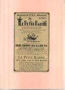 FRANCE 75 . LE PETIT RADIO . PUB  DES ANNEES 1920 . DECOUPEE ET COLLEE SUR PAPIER . - Radio & TSF