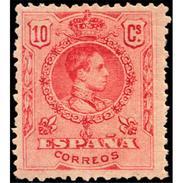 ES269STV-LFT***269S.España.Spain. Espagne.REY ALFONSO Xlll CADETE .1909/22.(Ed 269**)  Sin  Charnela - 1889-1931 Reino: Alfonso XIII