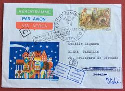 AEROGRAMMA NATALE 1982 VIAGGIATO IN BERGIO E RESO AL MITTENTE 3/1/83 - 6. 1946-.. Repubblica