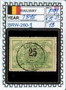 BELGIUM:RAILWAY PARCELS SERIE(S) (BRW- 260-1 (18) - 1895-1913