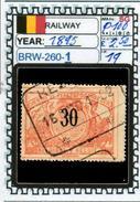 BELGIUM:RAILWAY PARCELS SERIE(S) (BRW- 260-1 (19) - Railway