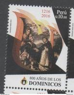 PERU, 2016, MNH, CHISTIANITY, DOMINICANS, 1v - Christentum