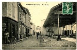 CPA 16 Charente Montbron Rue Carnot Animé Animations - Francia