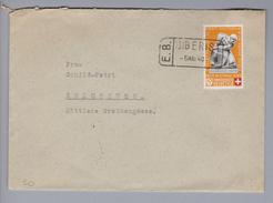 Heimat CH SO Biberist 1940-05-05 Bahnstations-Stempel Auf Brief Nach Solothurn - Covers & Documents