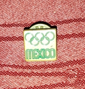 OLYMPIC GAMES MEXICO 1968., ORIGINAL VINTAGE PIN BADGE - Olympic Games