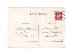 Entier Postal Adressé A Marseille  1942 Petain - Standard Postcards & Stamped On Demand (before 1995)