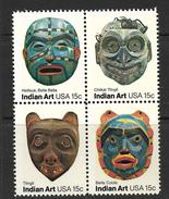 USA 1980 MASQUES INDIENS  YVERT N°1294/97  NEUF MNH** - American Indians