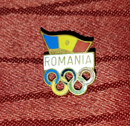 ROMANIA NATIONAL OLYMPIC COMMITTEE, VINTAGE ENAMEL PIN BADGE - Olympic Games