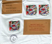 Lettre De GORKY,  Adressée ANDORRA,avec Timbre à Date Arrivée - 1992-.... Federation