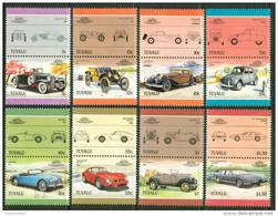 1985 Tuvalu Automobili Cars Voitures Set MNH** B368 - Tuvalu
