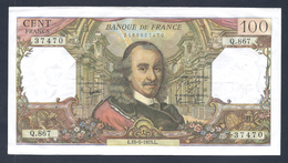 BILLET DE 100 FRANCS CORNEILLE DU 15-5-1975 Q.867 QUASI SUP F 65 49 - 1962-1997 ''Francs''
