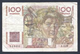 BILLET DE 100 FRANCS JEUNE PAYSAN DU 2-1-1953 A.518  F 28 35 - 1871-1952 Anciens Francs Circulés Au XXème