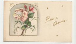 Mignonnette. Bonne Année. Bouquet De Roses. Carte Dorée. - Anno Nuovo
