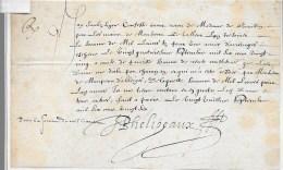 PHELIPEAUX 1626: Quittance De 1000 L D'arrérage à Mme De BOUILLON (Isabelle De Nasseau) Pour Rente à Lui