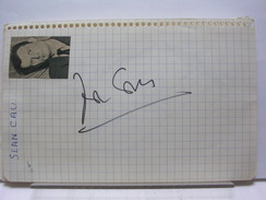 AUTOGRAPHES SUR PAPIER RECTO/VERSO - JEAN CAU + ANDRE BOLLET - Autographes