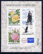 HUNGARY 1986 AMERIPEX Exhibition Imperforate Block MNH / **.  Michel Block 184B - Blocks & Sheetlets