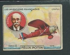 ADER Chromo Félix Potin Inventions Françaises L'Avion 50 X 40 Mm TB Pub Au Dos - Félix Potin