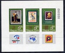 HUNGARY 1984 AUSIPEX Exhibition Imperforate Block MNH / **.  Michel Block 171B - Blocks & Sheetlets