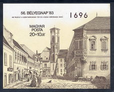 HUNGARY 1983 Stamp Day Imperforate Block MNH / **.  Michel Block 166B - Blocks & Sheetlets