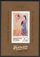 HUNGARY 1981 Picasso Centenary Imperforate Block MNH / **.  Michel Block 154B - Blocks & Sheetlets