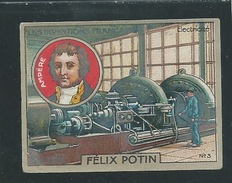 AMPERE Chromo Félix Potin Inventions Françaises L'électricité 50 X 40 Mm TB Pub Au Dos - Félix Potin