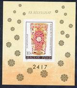 HUNGARY 1980 Stamp Day: Glassware Imperforate Block MNH / **.  Michel Block 144B - Blocks & Sheetlets