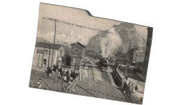 GRENOBLE .... LA GARE AU PASSAGE A NIVEAU ET LE CASINO DE NERON ... TRAIN - Grenoble