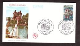 Enveloppe Premier Jour FDC - 1966 - Château De Val - Lanobre - 1960-1969