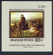 HUNGARY 1976 Battle Of Mohacs Anniversary Imperforate Block MNH / **.  Michel Block 120B - Blocks & Sheetlets