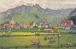 Werbekarte Der St.Gallen-Gais-Appenzell-Bahn - Künstlerkarte - 1912    (P36-60116) - Publicidad
