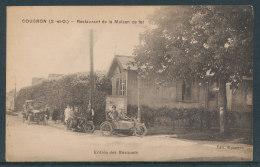 Coubron - Restaurant De La Maison De Fer - Auto,moto Et Side-car - Otros Municipios