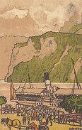 Landungssteg Brunnen - Litho Sign. Stiefel - 1916    (P36-60116) - SZ Schwyz