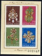 HUNGARY 1973 Stamp Day Imperforate Block MNH / **.  Michel Block 100B - Blocks & Sheetlets