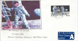 SUEDE (1 Er Homme Sur La Lune), Letter Adressée En AUSTRALIE - Astronomy