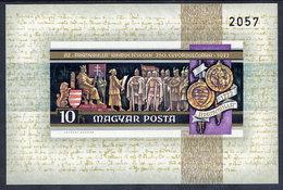 HUNGARY 1972 Millennary Of Szekesfehervar  Imperforate Block MNH / **.  Michel Block 92B - Blocks & Sheetlets