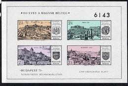 HUNGARY 1971 BUDAPEST Exhibition  Imperforate Block MNH / **.  Michel Block 79B - Blocks & Sheetlets