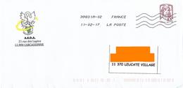 Enveloppe Illustrée AEDA Carcassonne Marianne Ciappa Lettre Prioritaire Toshiba 39831A-02 Cygne Oiseau