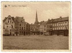 Ath, Grand'Place Et Maison Espagnole, Circulée En 1934, Oblitération 4è Dimanche D'août Cortège Historique  - 2 Scans - Ath