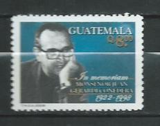 Guatemala 2008 Monsignor Juan Gerardi Conedera.Guatemalan Roman Catholic Bishop And Human Rights Defender.MNH - Guatemala