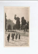 JERUSALEM CARTE PHOTO VISITEURS DEVANT LA MOSQUEE EL AQSA - Israele