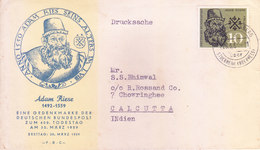 GERMANY, FEDERAL REPUBLIC, 30-03-1959 ADA, ROES SEINS ALTERS FIRST DAY COVER COMMERCIALLY SENT TO INDIA - [7] Federal Republic