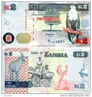 ZAMBIA 2 Kwacha  2012(2013) **UNC** New Currency Of Zambia - Zambia