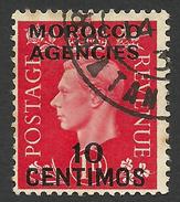 Morocco Agencies, 10 C. 1937, Sc # 84, Used - Great Britain (former Colonies & Protectorates)