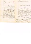 Ecole - Lettres D'enfants Aux Parents Avec Notes De La Semaine Au Dos - 1927 - Manuscripts