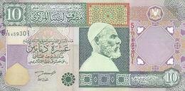 LIBYA 10 DINARS 2002 P-66 SIG/4 ZILITNI AU-UNC */* - Libye