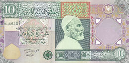 LIBYA 10 DINARS 2002 P-66 SIG/4 ZILITNI AU-UNC */* - Libië
