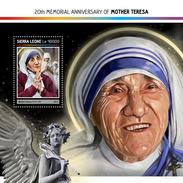 SIERRA LEONE 2017 - Mother Teresa S/S. Official Issue. - Mother Teresa
