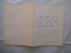 COLOMBES SEINE MARIAGE DE MONSIEUR GABRIEL CHASSAING AVEC MADEMOISELLE ANGELE POPPI LE 4 OCTOBRE 1919 EGISE DE MALAKOFF - Mariage