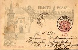 PORTUGAL 1498-1898 India Discovery Centenary Postcard From Figueira Da Foz To Coimbra - Cartas